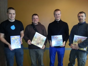 4th Petri Savola, 2nd Mikko Raunio, 1st Sameli Valkama and 3rd Taneli Armanto